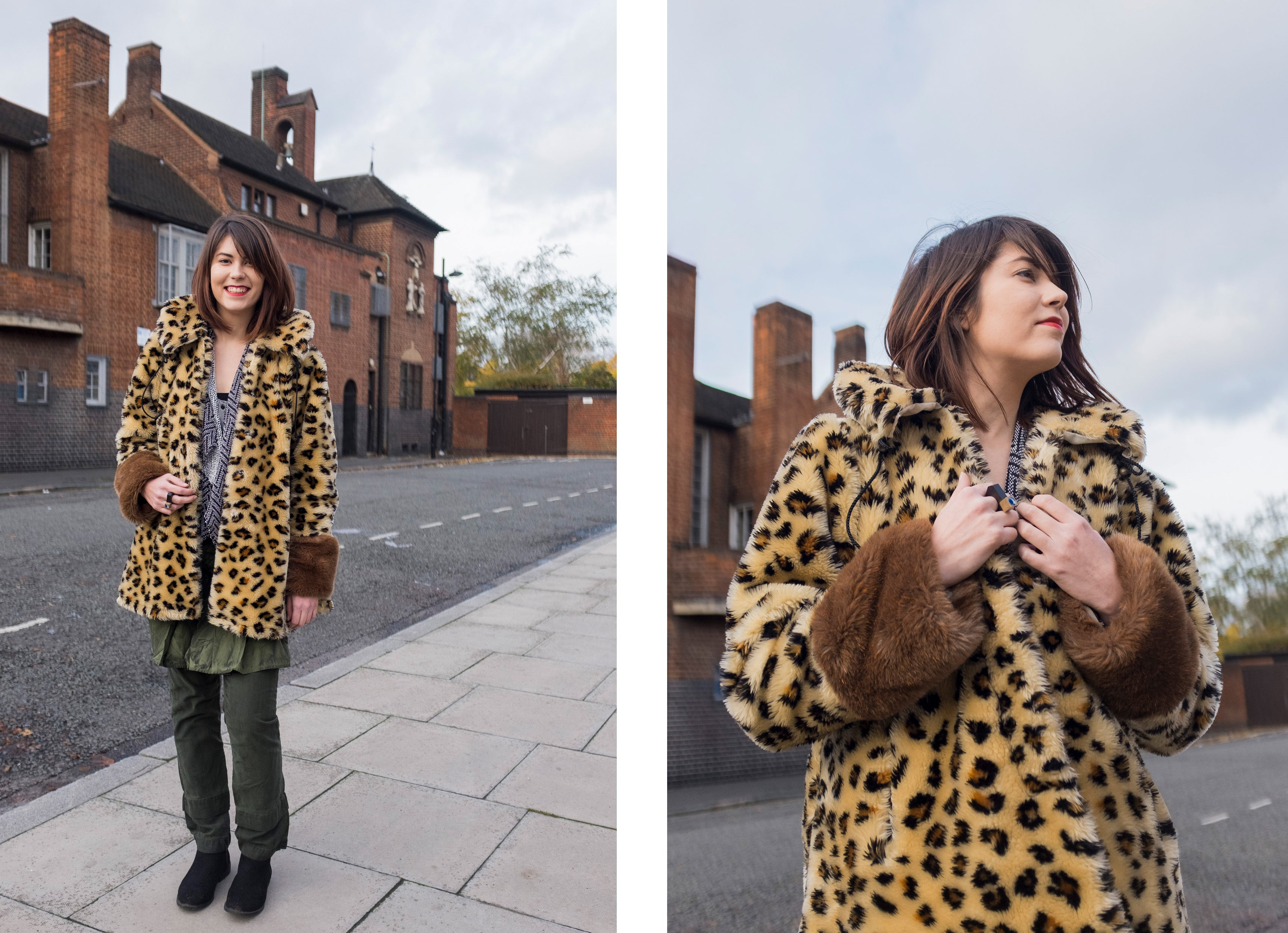 The Vintage Wardrobe Stories - Leopard Patterned Faux-fur Womens Coat | On Slowness