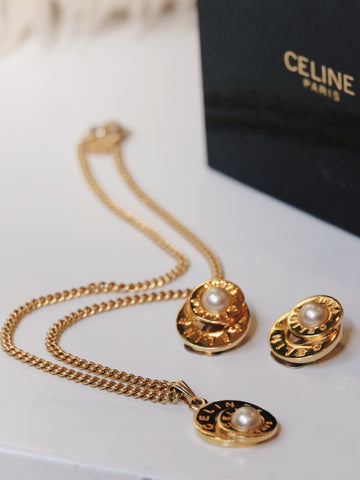 Vintage celine necklace & earrings | ON SLOWNESS