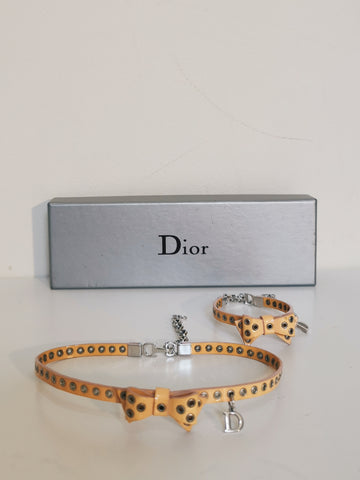 Vintage Dior bow necklace & bracelet set | ON SLOWNESS