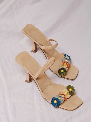 vintage Fendi floral mules | on slowness