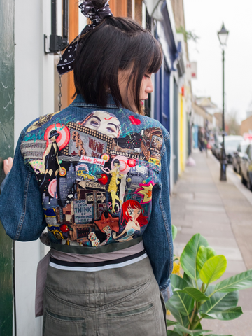 80s Patched Womens Denim Jacket