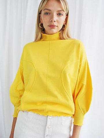 House of Sunny Volume Jumper yellow sample sale outlet | ON SLOWNESS