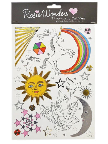 Celestial (Temporary Tattoos with Gold & Silver Foil)