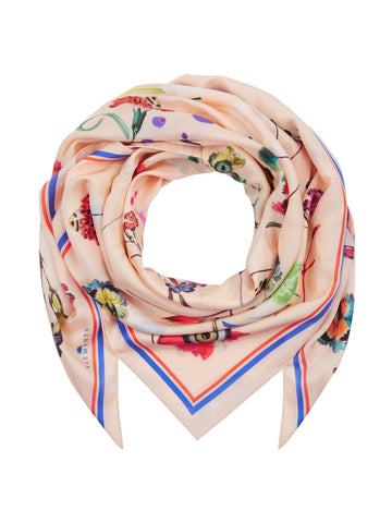 Klements silk scarf large floral explosion sale | onslowness. com