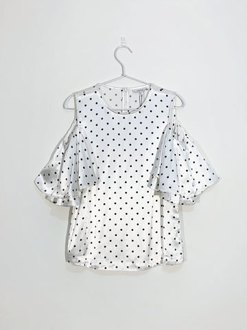 Ganni polkadot blouse sales outlet | ON SLOWNESS