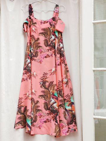 Klements London trapeze artist dress volcano print | onslowness. com