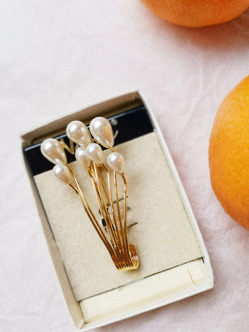vintage Napier pearls brooch pin