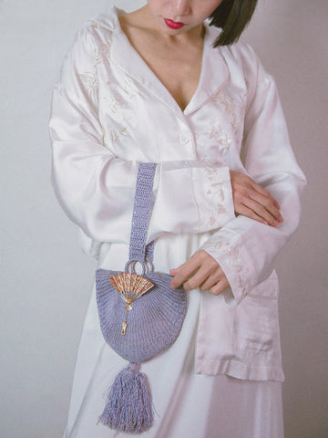 Gold Hawk floral modern kimono robe white | ON SLOWNESS