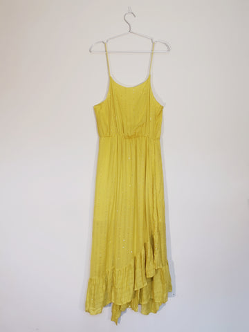 Sundress yellow slip sequin dress sales | on slowness