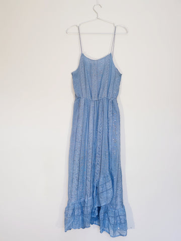 Sundress blue slip sequin dress sales | on slowness