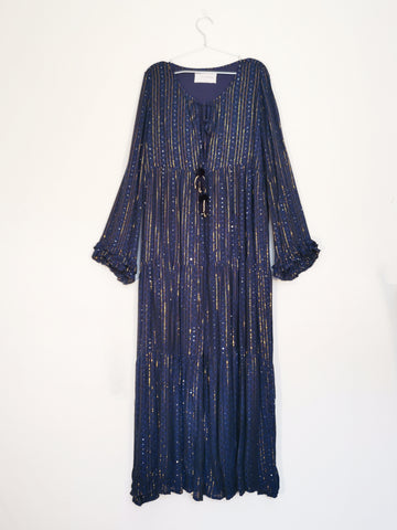 sundress navy golden sequins maxi dress sales | ON SLOWNESS
