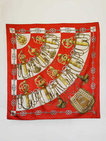 vintage Hermes scarf Cliquetis | on slowness