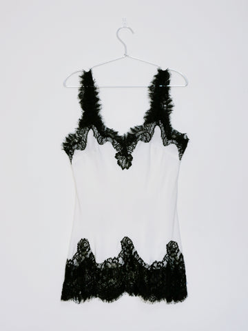 Gold Hawk lace cami top white