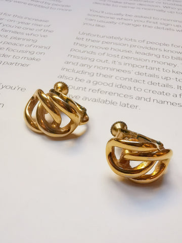 Napier chain clip-on earrings (Vintage)