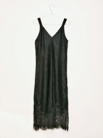 Gold Hawk Lacey Velvet Dress black sequins