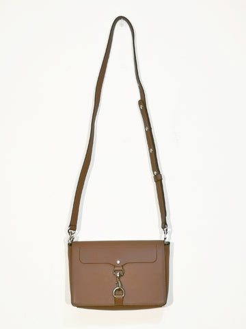 Rebecca Minkoff Mab Flap crossbody chestnut brown