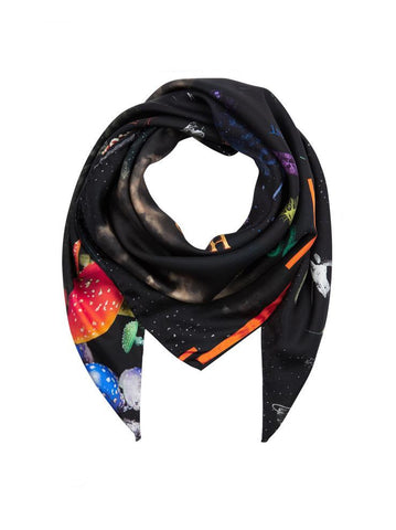 Klements Kosmos silk scarf sale | onslowness.com