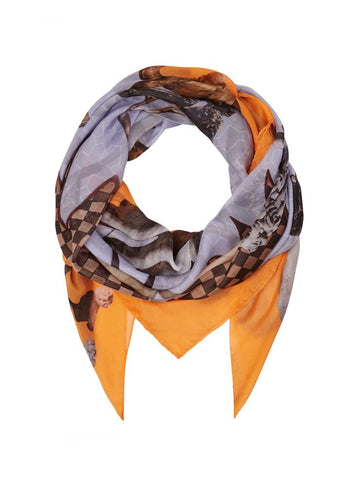 Klements guardians worn of protection silk scarf sale | onslowness.com