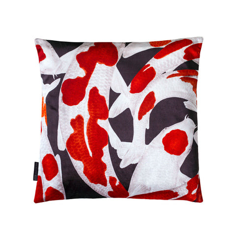 Arlette Ess koi fish cushion | silk scarves and interiors home deco outlet sample sale | onslowness.com