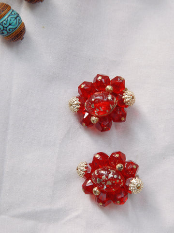 Red candy(Vintage Clip-on Earrings)