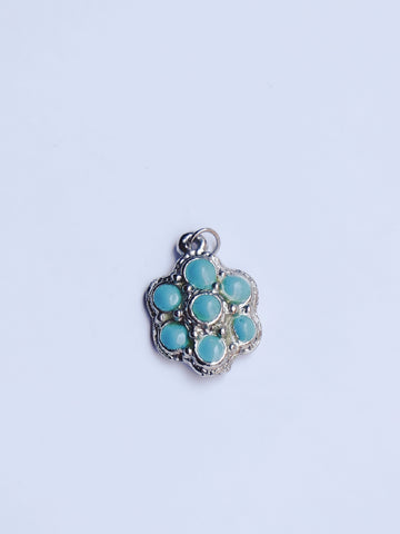 The blue flower necklace pendant (Vintage)