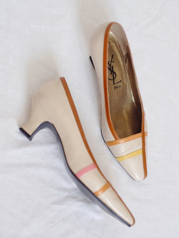 vintage Yves Saint Laurent YSL heels shoes | on slowness