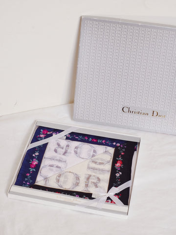 vintage Christian Dior scarf gift set | on slowness