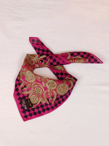 vintage Celine handkerchief scarf | on slowness