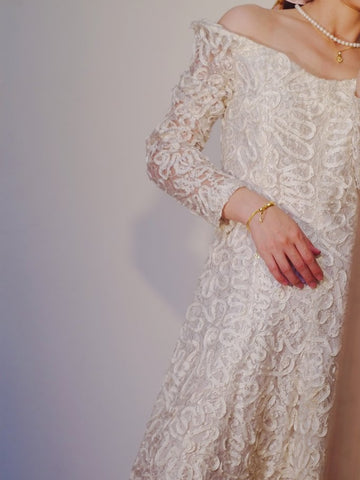 White lace romantic dress (vintage)