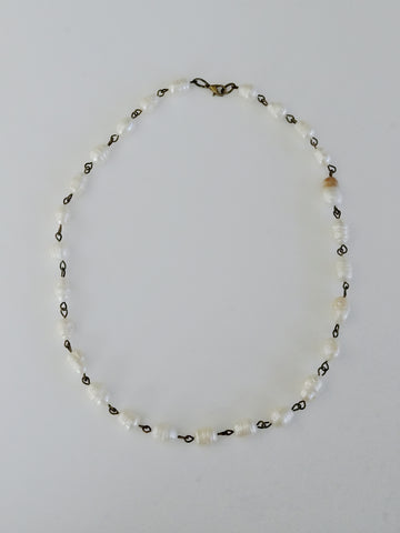 Natural shape pearls necklace (Vintage)