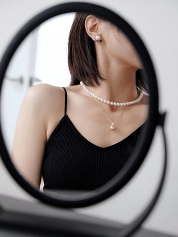 Classy look round pearls necklace (Vintage)