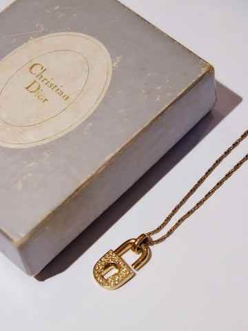 vintage Christian Dior locker necklace | on slowness