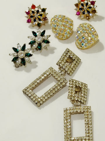 The sparkle of the night (Vintage Clip-on Earrings)