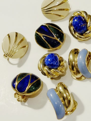 The blue edition (Vintage Clip-on Earrings)