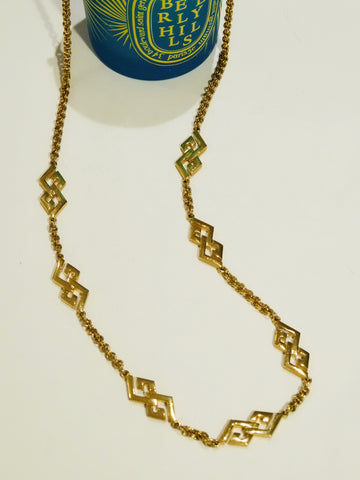 vintage Givenchy chain necklace | om slowness
