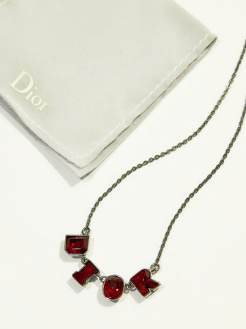Christian Dior red stones necklace (Vintage)