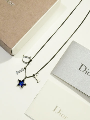 Christian Dior blue star necklace (Vintage)