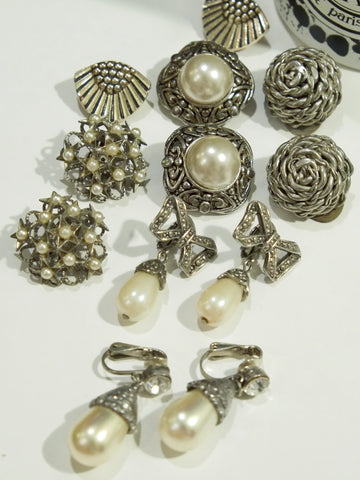 The understated silver tone (Vintage Clip-on Earrings)