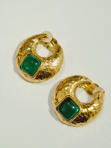 vintage Yves Saint Laurent YSL earrings | on slowness