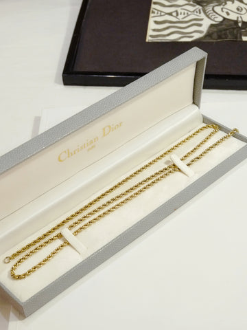 Christian Dior long chain necklace (Vintage)