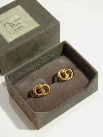 vintage christian dior cuff links | on slowness