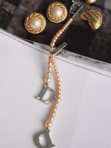 Christian Dior faux pearls drop earrings (Vintage)