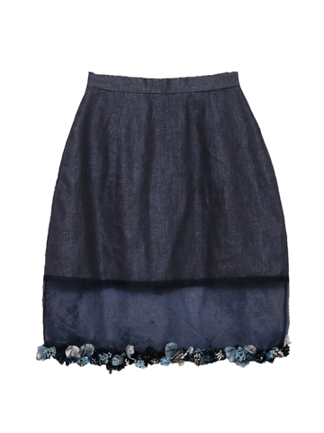 Sorina (Embroidered 100% Premium Mulberry Silk Skirt)