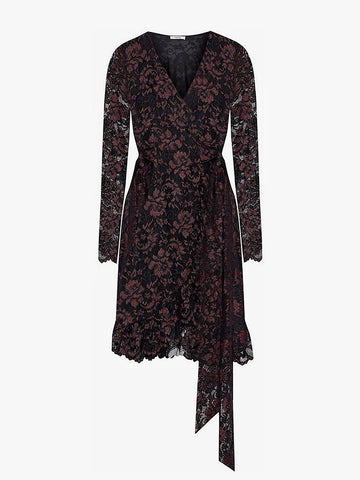 Ganni lace wrap dress sales outlet | ON SLOWNESS