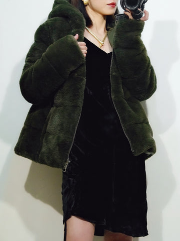 JOTT Down Jacket vintage green Reversible