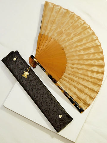 Celine monogram fan (vintage)