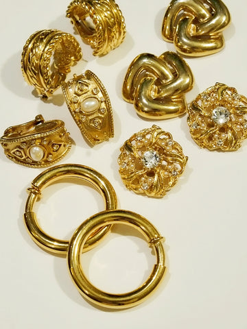 The Byzantine style (Vintage Clip-on Earrings)