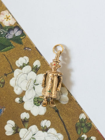 Clown Vintage 9-Karat Gold Charm | Rabbit the Archivist | On Slowness Jewellery