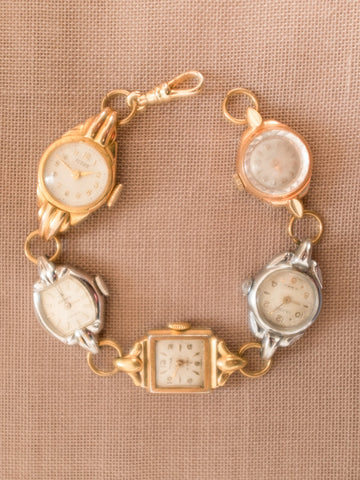 Five Times silver & gold vintage bracelet watch womens jewellery | On Slowness
