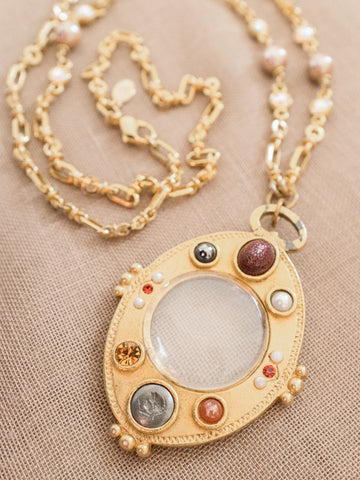 The Queen's Magic Mirror vintage necklace womens jewellery | On Slowness